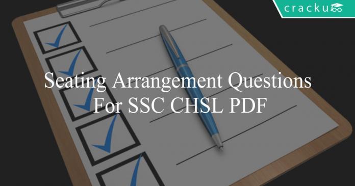 seating arrangement questions for ssc chsl pdf