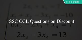 SSC CGL Questions on Discount