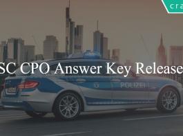 SSC CPO Answer Key 2018