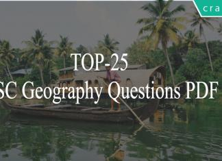 TOP-25SSC Geography Questions PDF