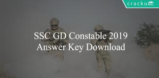 SSC GD Constable 2019 Answer Key Download