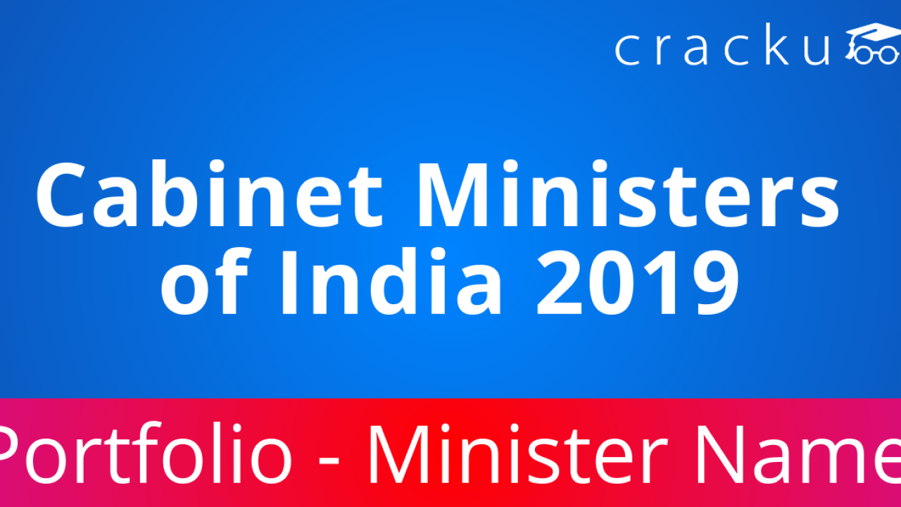 List of Cabinet ministers of India 2019 PDF - Cracku