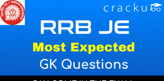 Top-20 RRB JE Most Expected GK Questions