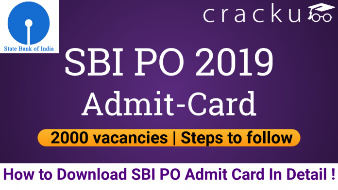 SBI PO Admit Card Download 2019