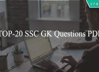 TOP-20 SSC GK Questions PDF