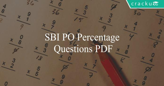 sbi po percentage questions pdf