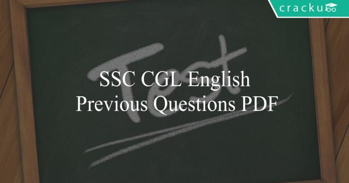 ssc cgl english previous questions pdf