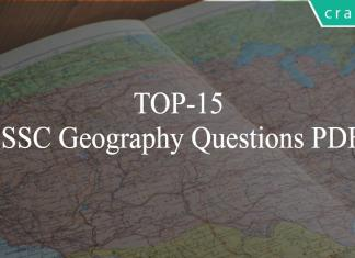 TOP-15 SSC Geography Questions PDF
