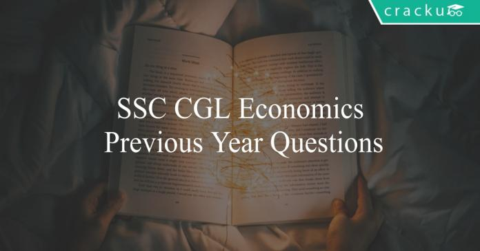 ssc cgl economics previous year questions