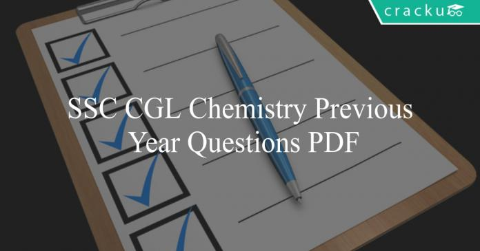 ssc cgl chemistry previous year questions pdf