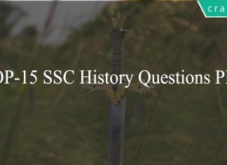 TOP-15 SSC History Questions PDF
