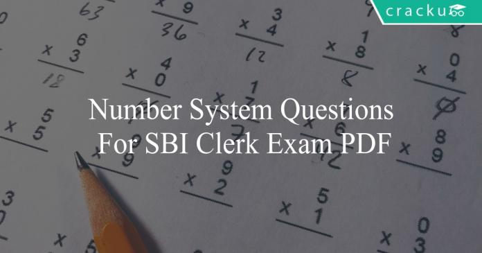 number system questions for sbi clerk exam pdf