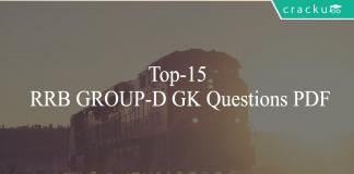 Top-15 RRB GROUP-D GK Questions PDF