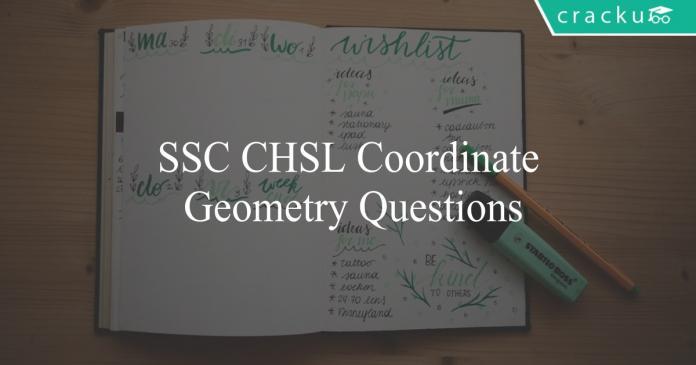 ssc chsl coordinate geometry questions
