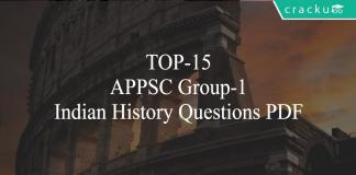 TOP-15 APPSC Group-1 Indian History Questions PDF