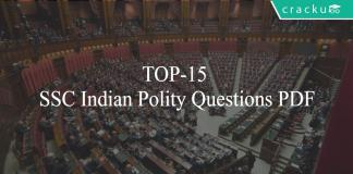 TOP-15 SSC Indian Polity Questions PDF
