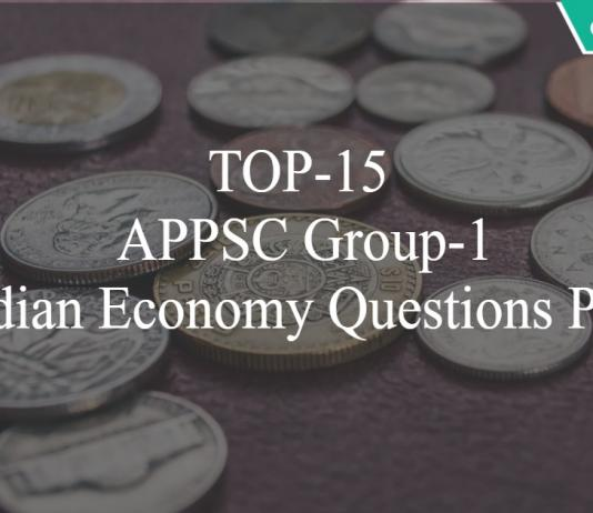 TOP-15 APPSC Group-1 Indian Economy Questions PDF