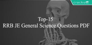 Top-15 RRB JE General Science Questions PDF