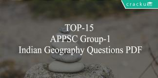 TOP-15 APPSC Group-1 Indian Geography Questions PDF
