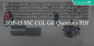 TOP-15 SSC CGL GK Questions PDF