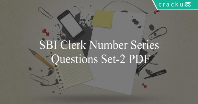sbi clerk number series questions set-2 pdf