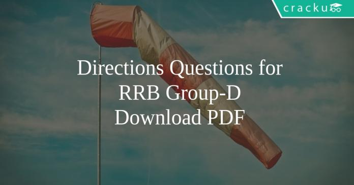 Directions Questions for RRB Group-D PDF