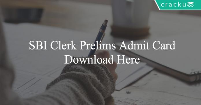 SBI Clerk Prelims Admit Card Download