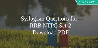 Syllogism Questions for RRB NTPC Set-2 PDF