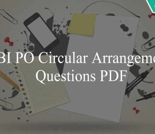 sbi po circular arrangement questions