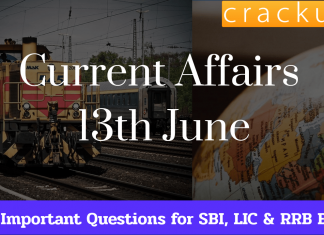13th June Current Affairs Quiz