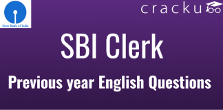SBI Clerk English Previous Year Questions With Video Explanation