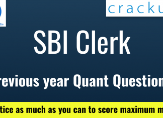 SBI Quant Previous Year Questions