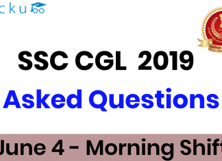 SSC CGL 4th June Question Paper Morning Shift