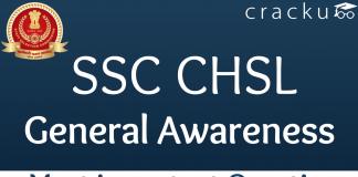 SSC CHSL General Awareness Questions