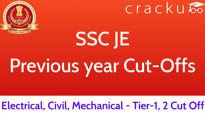 SSC JE Previous Year Cut Offs