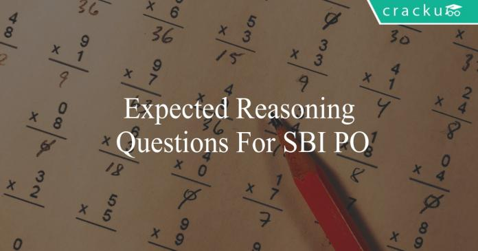 expected reasoning questions for sbi po