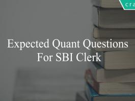 expected quant questions for sbi clerk