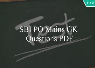 sbi po mains gk questions pdf