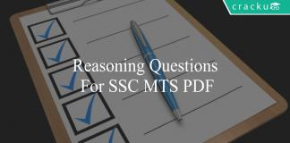 reasoning questions for ssc mts pdf