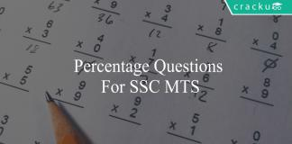 percentage questions for ssc mts