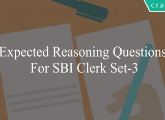 expected reasoning questions for sbi clerk set-3