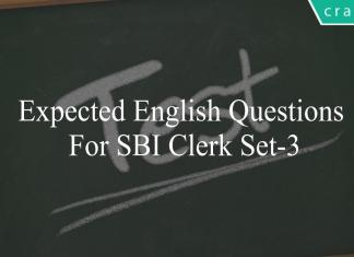 expected english questions for sbi clerk set-3