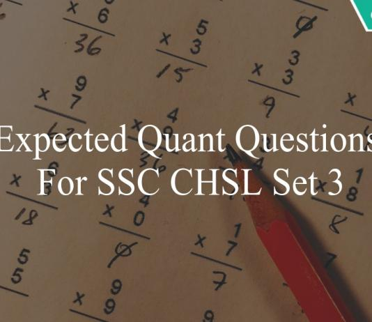 expected quant questions for ssc chsl set 3