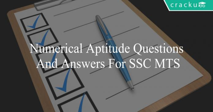 numerical aptitude questions and answers for ssc mts