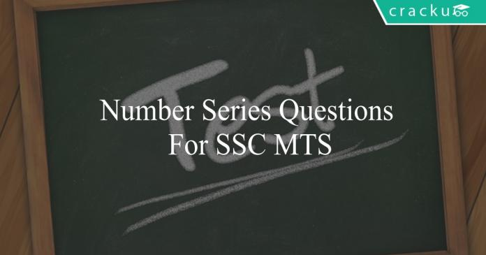 number series questions for ssc mts