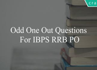 odd one out questions for ibps rrb po