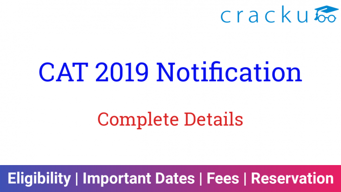 CAT 2019 Notification PDF