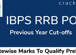 IBPS RRB PO Last Year Cut Offs Statewise