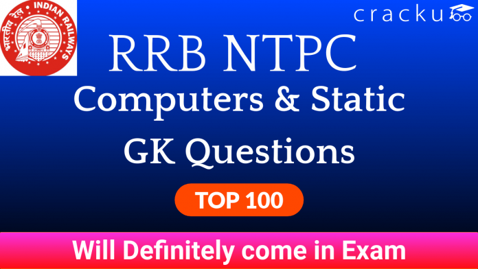 RRB NTPC Computers & Static GK Questions