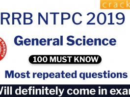 Top 100 RRB NTPC General Science Questions PDF